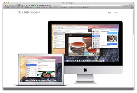 Apple makes it easy to join the OS X Yosemite public beta program