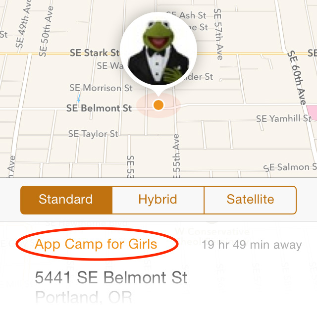 Add labels to friend's locations to set notification alerts