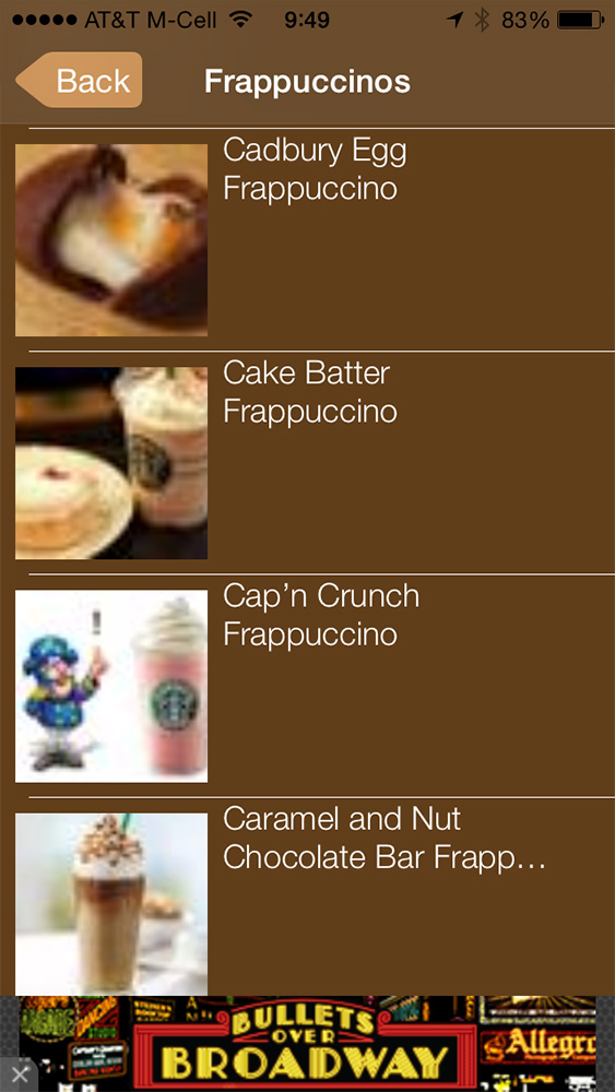 Secret Menu Starbucks Edition Free adds more recipes regularly without in-app purchases