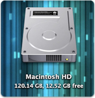 how to view hard drive icon on desktop mac