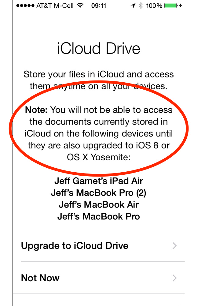 Skip iCloud Drive for now. You need iOS 8 and OS X Yosemite on all your Apple gear