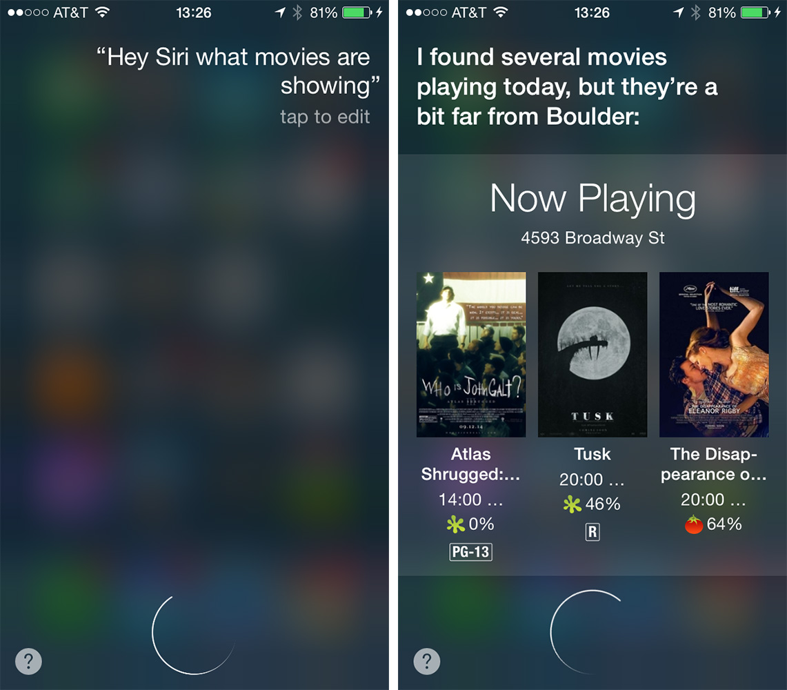 Siri lets you ask questions and issue commands by saying,