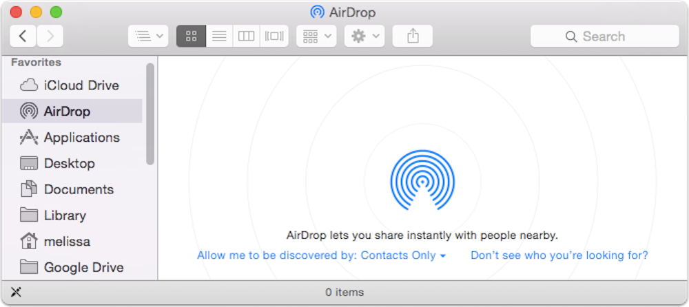 how to add airdrop to sidebar