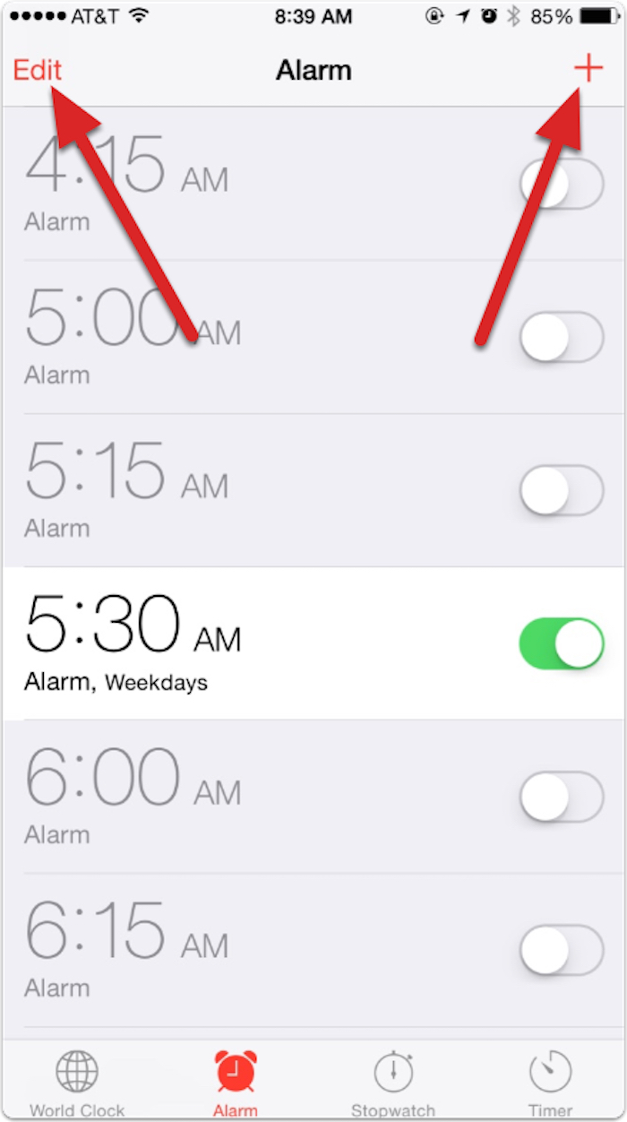 how to make a song an alarm