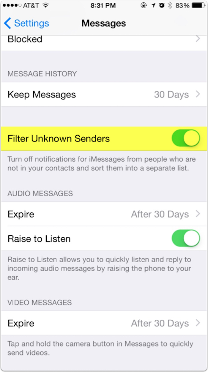 iOS 8 3 Messages: Filtering Unknown Senders – The Mac Observer