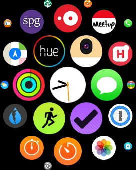 The icon arrangement on your Apple Watch automatically updates