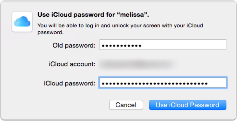how to find icloud username and password
