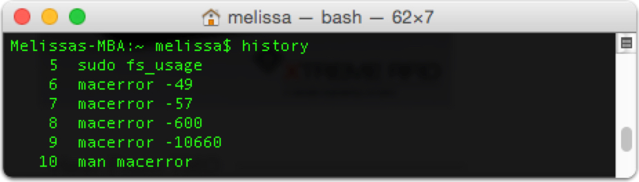 Terminal: Viewing Your Command History in OS X – The Mac Observer