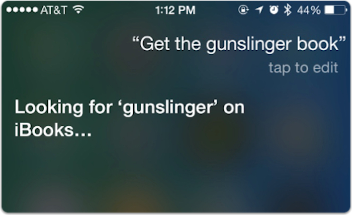 Siri search for