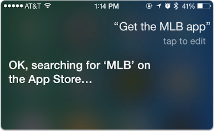Siri search for MLB app