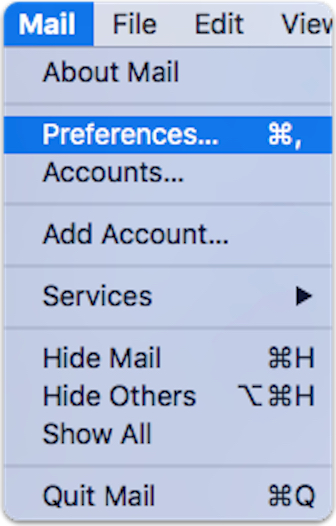 OS X El Capitan Mail Preferences