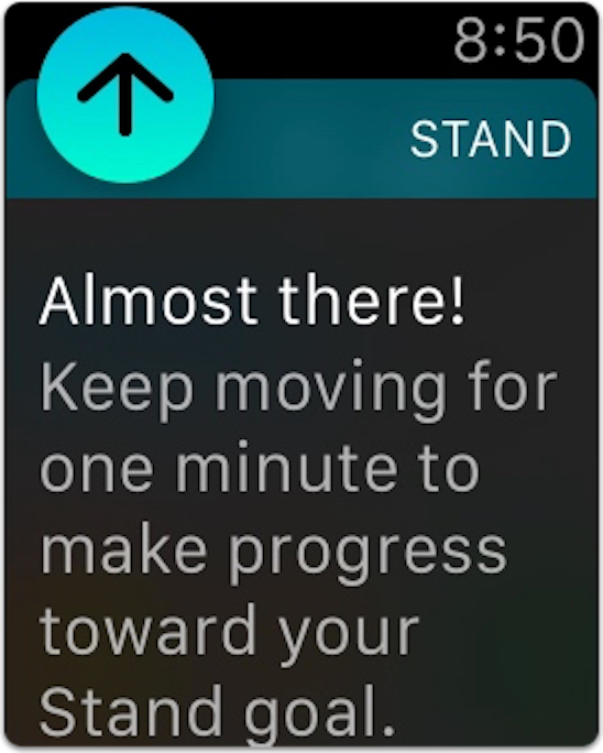 Apple Watch reminder to stand