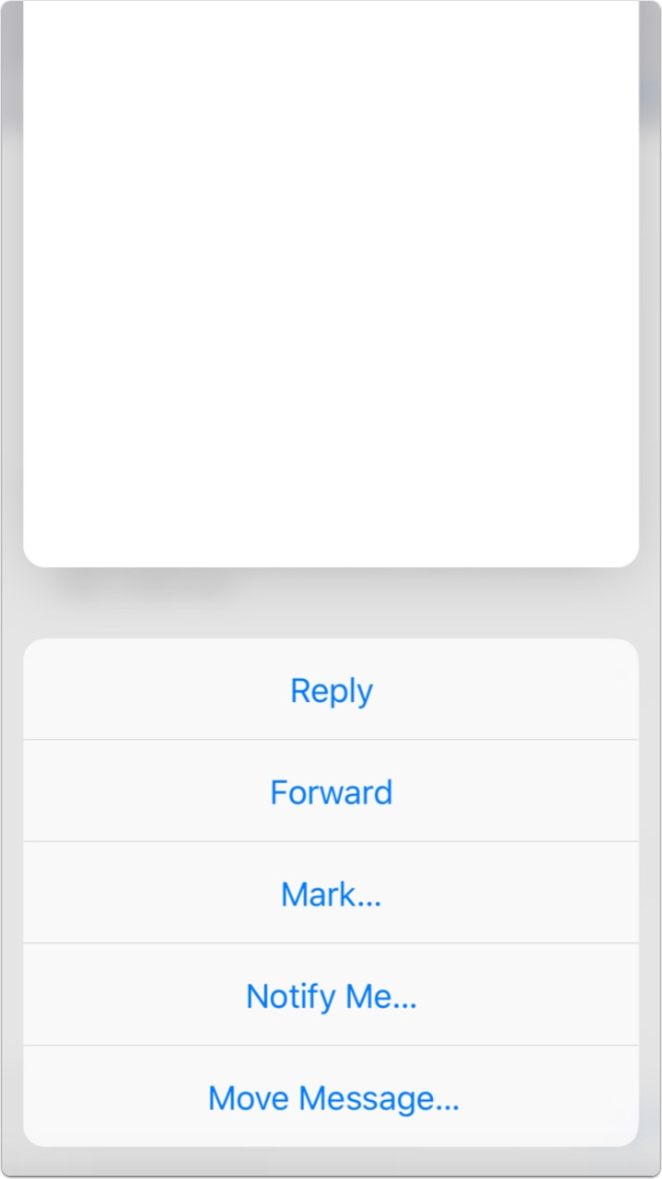 You can reply, forward, and delete email with 3D Touch's Peek