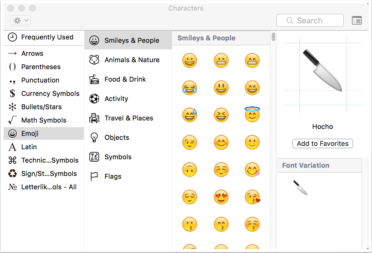 Macos 4 easy ways to use emoji shortcuts the mac observer i think there are a couple of easier ways to add those characters in however at least in places where there isnt an obvious option of how to do so like biocorpaavc Gallery