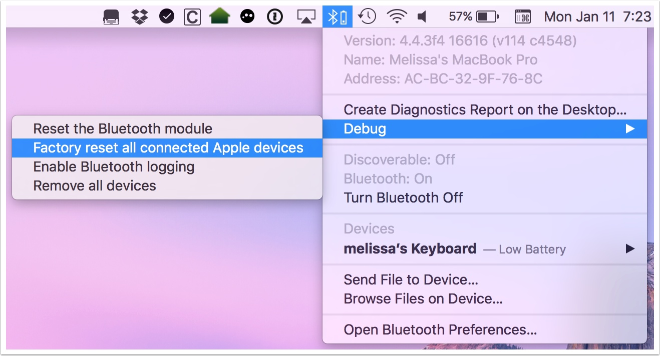 OS X's Hidden Bluetooth Debug Menu: Reset Devices and More