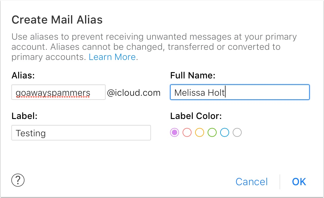 how to open a new icloud email address