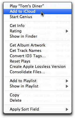 how to add songs to icloud library