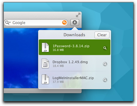 Safari 5: Managing Files with the Downloads Popover – The