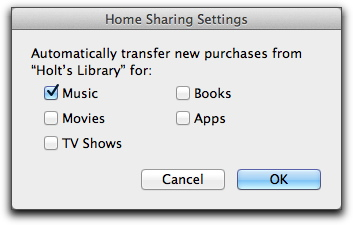 how to turn on home sharing in itunes on mac