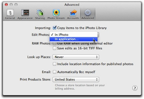 iPhoto: Editing Images with an External Program – The Mac