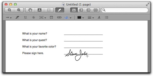 OS X Lion: Adding Your Signature to PDFs Through Preview