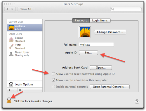 OS X Lion: Resetting Your Account Password with Your Apple ID – The