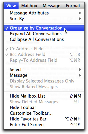 Organize messages by content