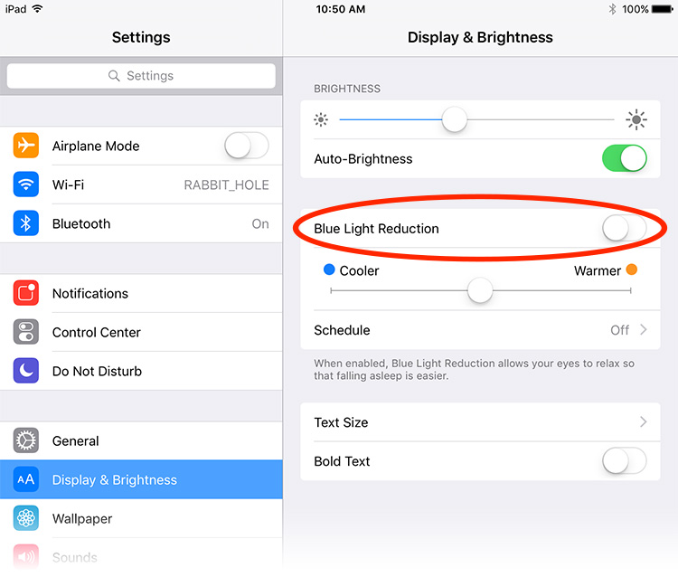 Night Shift is disabled by default, but it's easy to turn on in Settings