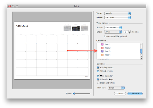 Mac Os X Printing Blank Calendars From Ical The Mac Observer