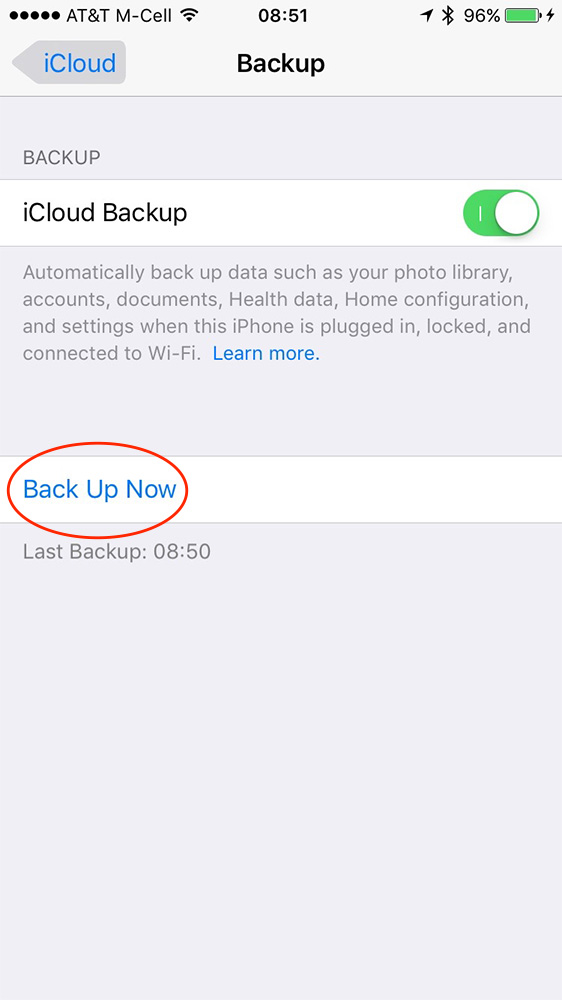 Use iCloud's settings on your iPhone to force a backup and see when your last backup happened