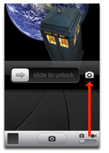 Slide up instead of tapping to use Camera