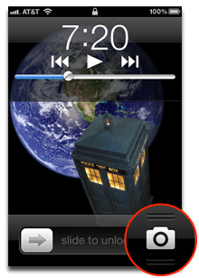 iOS 5.1's new lock screen Camera button