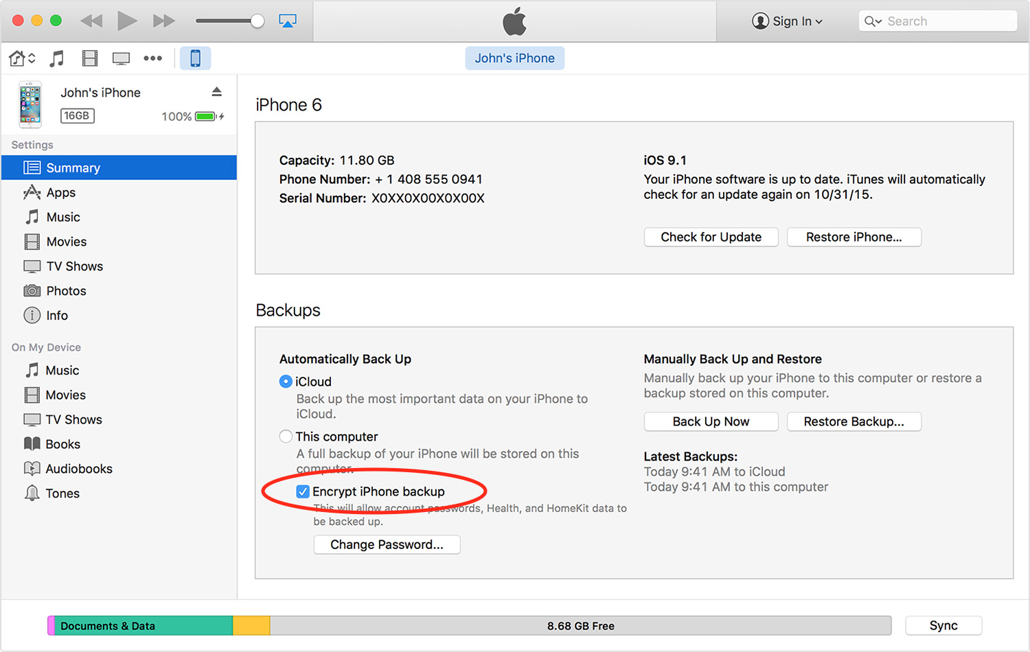 Encrypt your iPhone and iPad backups to keep your private data safe