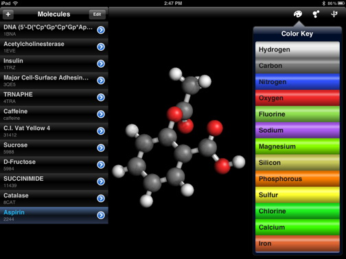 3 free awesome ios apps for science the mac observer for that you need molecules another freebie ios app that puts everyday substances in a whole new light urtaz Images