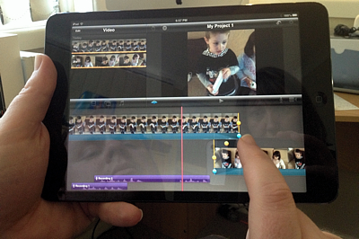 Editing video in iMovie on the iPad mini