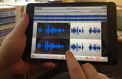 Editing a podcast with TwistedWave on the iPad mini