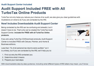 TurboTax: Audit Support