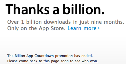 Screenshot from Apple's promo page