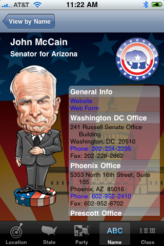 Bobble Rep entry for John McCain