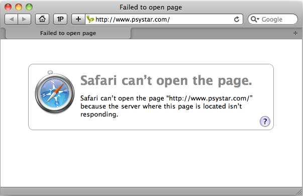 Psystar's Web Site Down