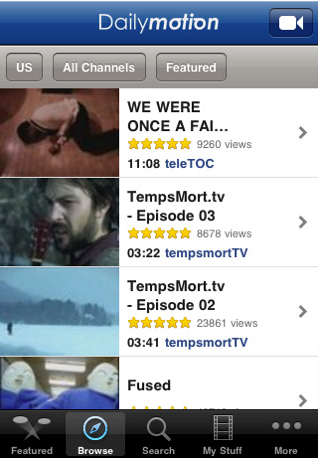 DailyMotion Screenshot