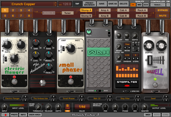 AmpliTube 3 Screenshot