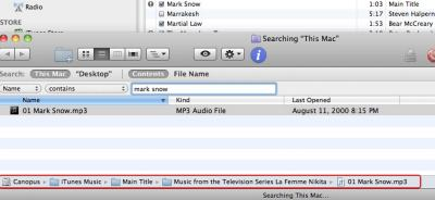 iTunes search magnified