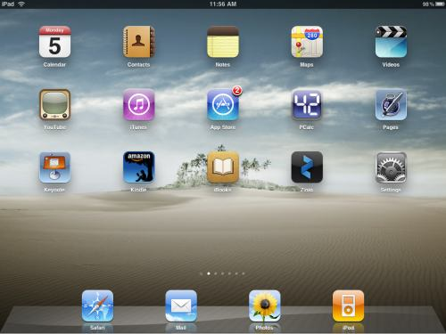 My iPad Home Page