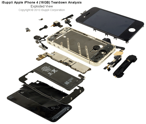 iPhone 4 Exploded View