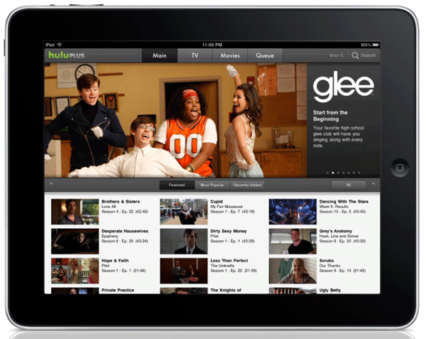 Hulu Plus on the iPad