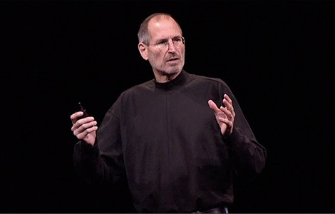 Steve Jobs at the iPhone 4 press conference