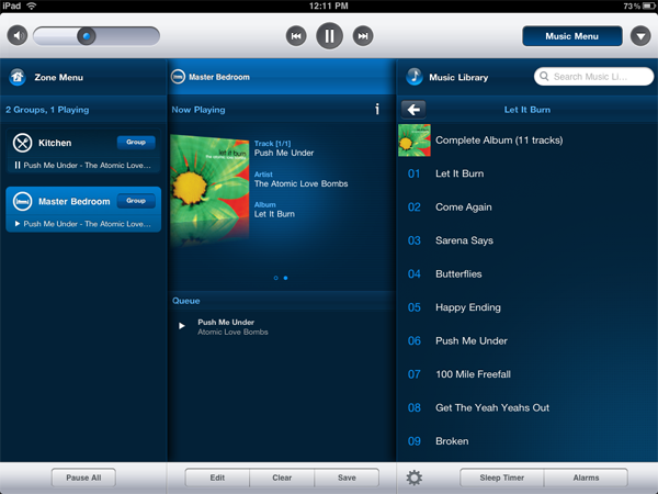 Sonos Controller for iPad Screenshot