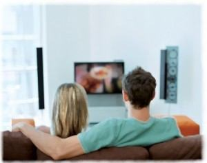 Couple watchng TV