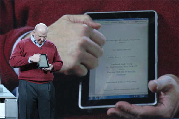 Steve Ballmer Showing Off a Slate